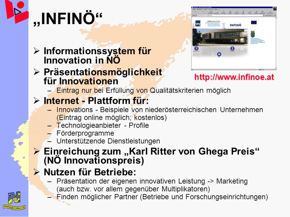 """INFINÖ Informationssystem für Innovation in NÖ"