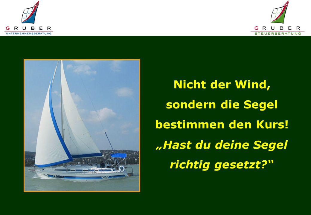 """Nicht der Wind, sondern die Segel bestimmen den Kurs! """"Hast du deine Segel richtig gesetzt"""