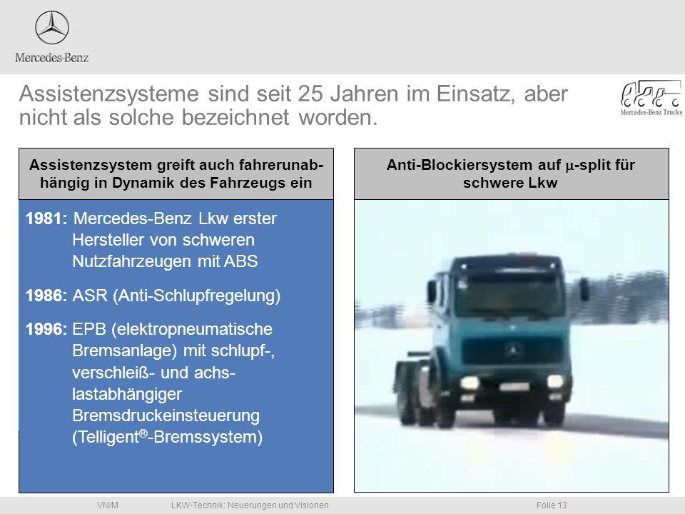Anti-Blockiersystem auf m-split für schwere Lkw