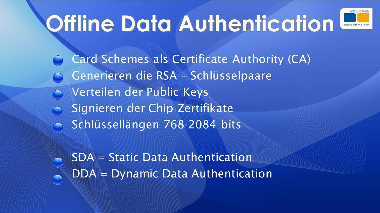 Offline Data Authentication