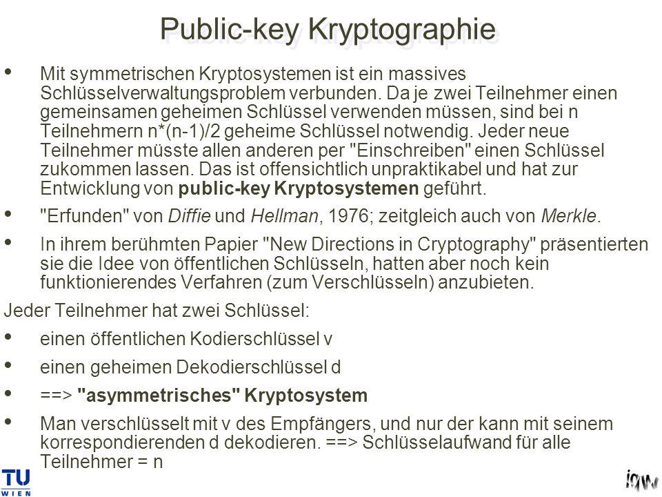 Public-key Kryptographie