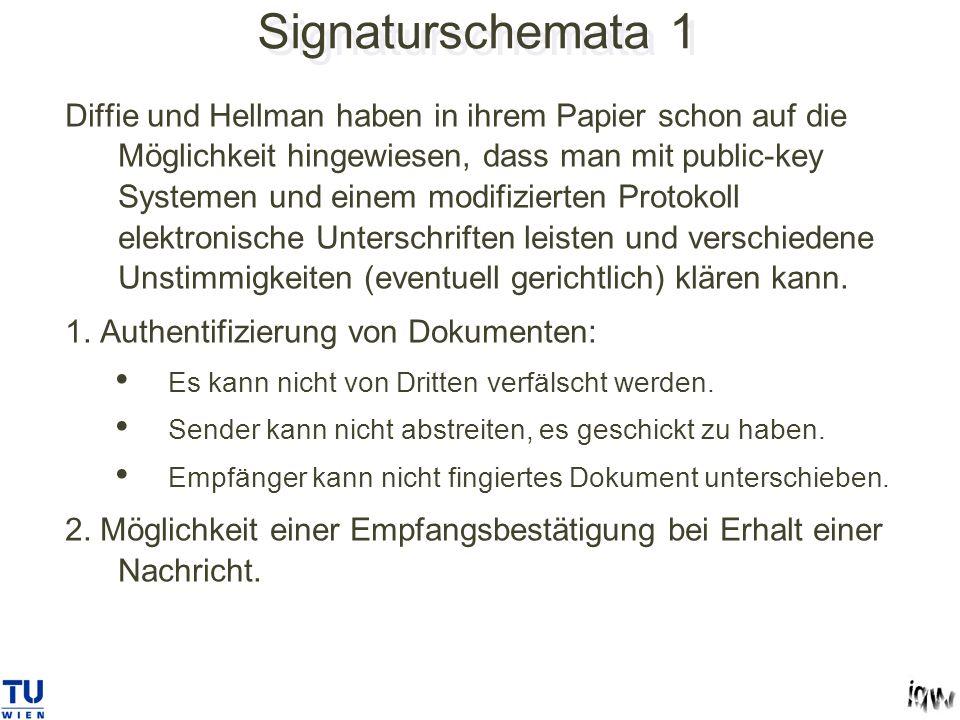 Signaturschemata 1