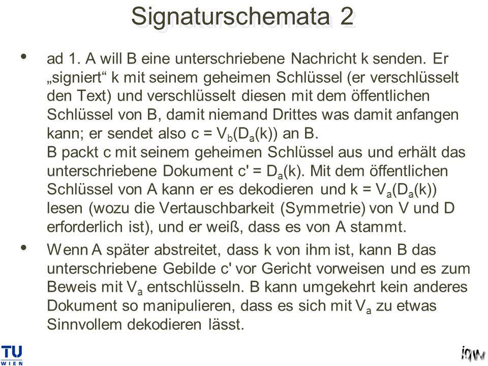Signaturschemata 2