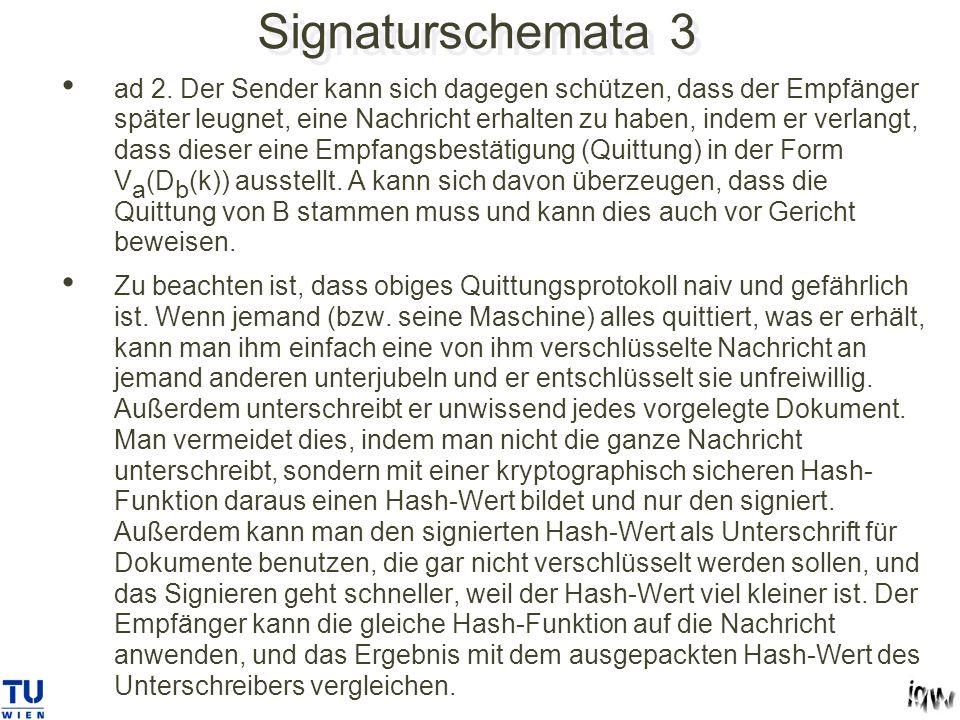 Signaturschemata 3