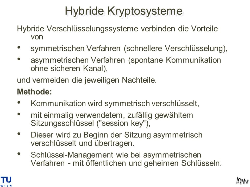 Hybride Kryptosysteme