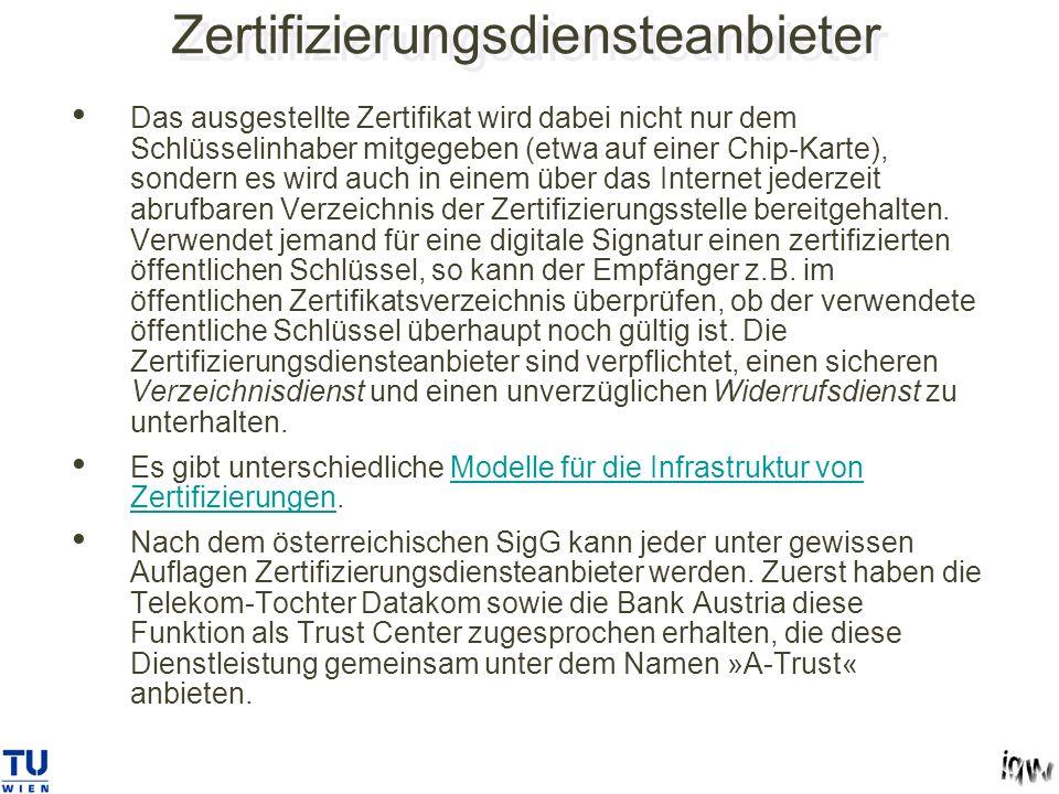 Zertifizierungsdiensteanbieter