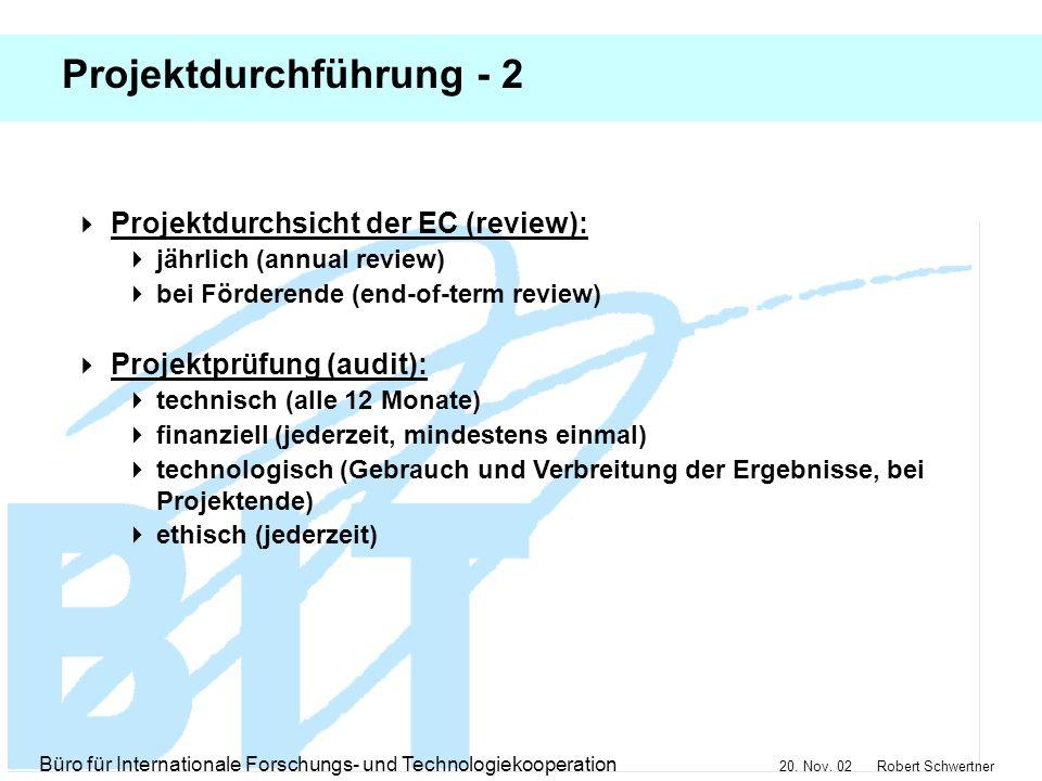 Projektdurchführung - 2