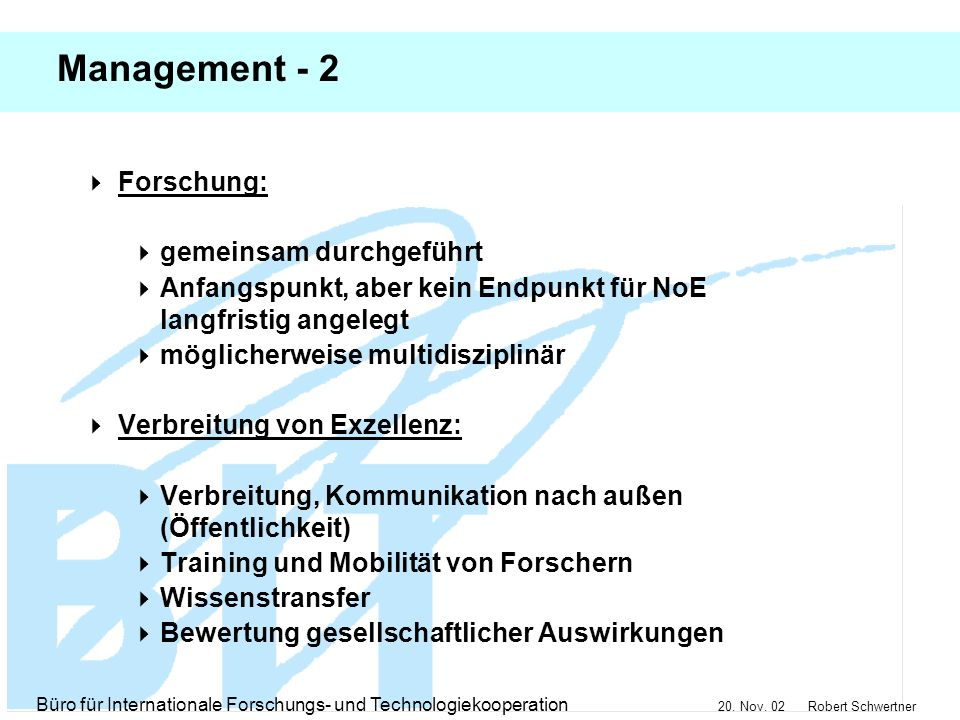Management - 2 Forschung: gemeinsam durchgeführt