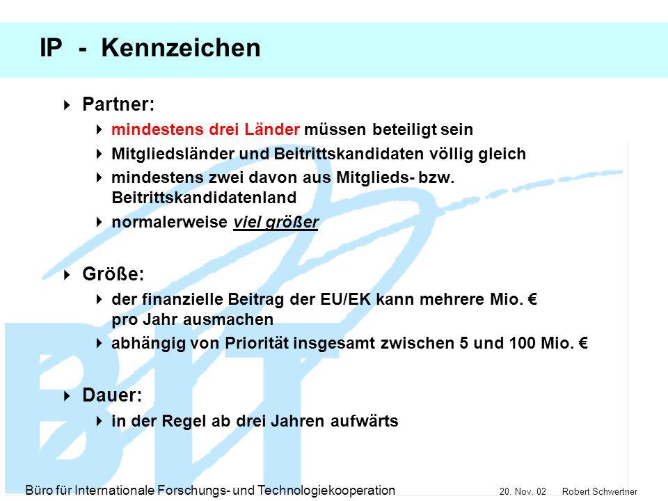 IP - Kennzeichen Partner: Größe: Dauer: