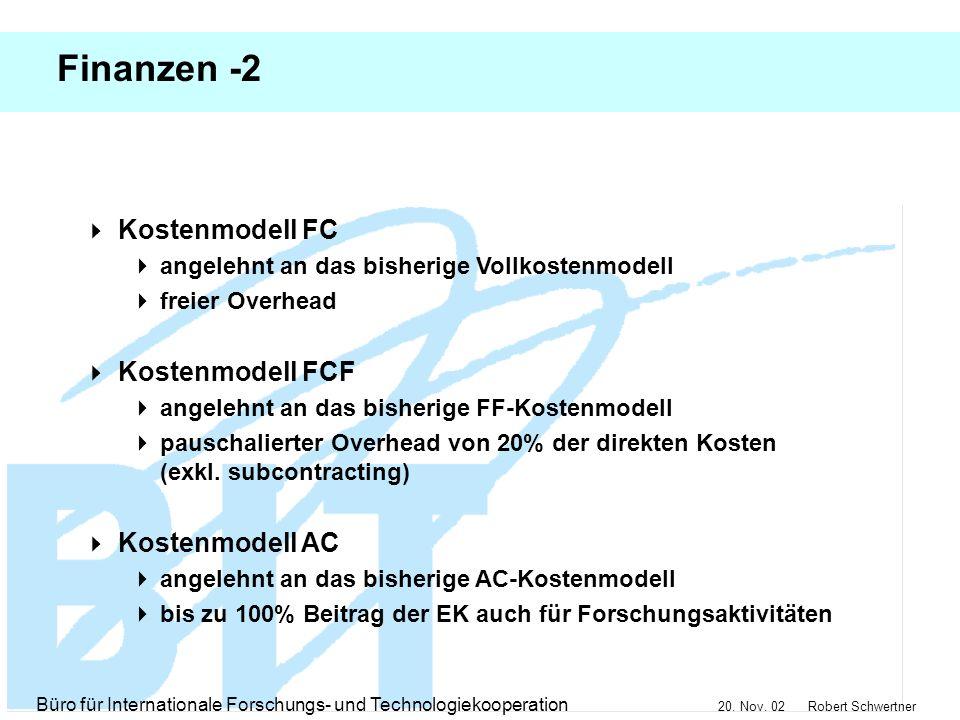 Finanzen -2 Kostenmodell FC Kostenmodell FCF Kostenmodell AC