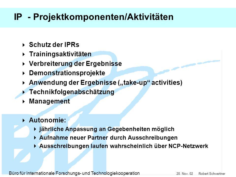 IP - Projektkomponenten/Aktivitäten