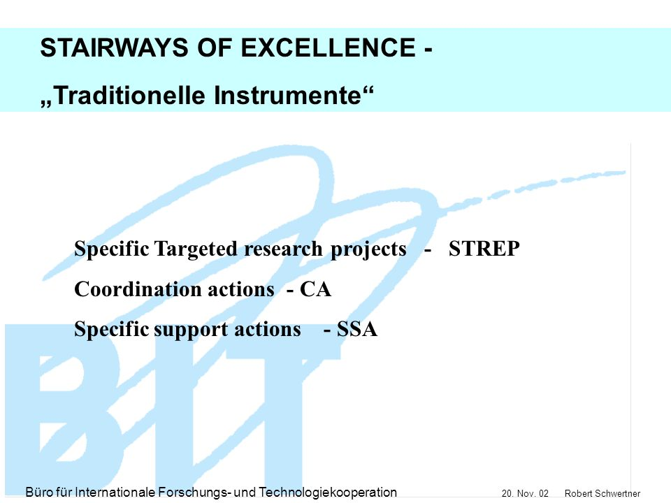 "STAIRWAYS OF EXCELLENCE - ""Traditionelle Instrumente"