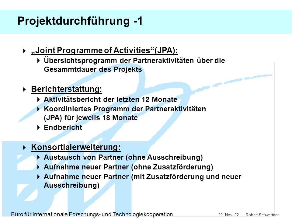 Projektdurchführung -1
