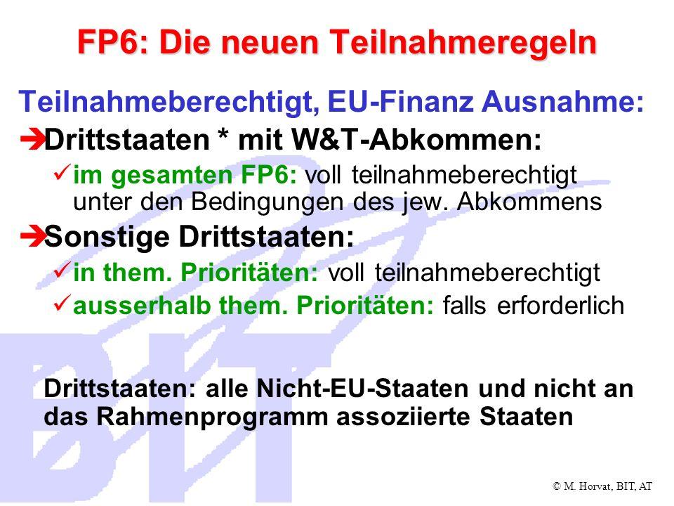 FP6: Die neuen Teilnahmeregeln
