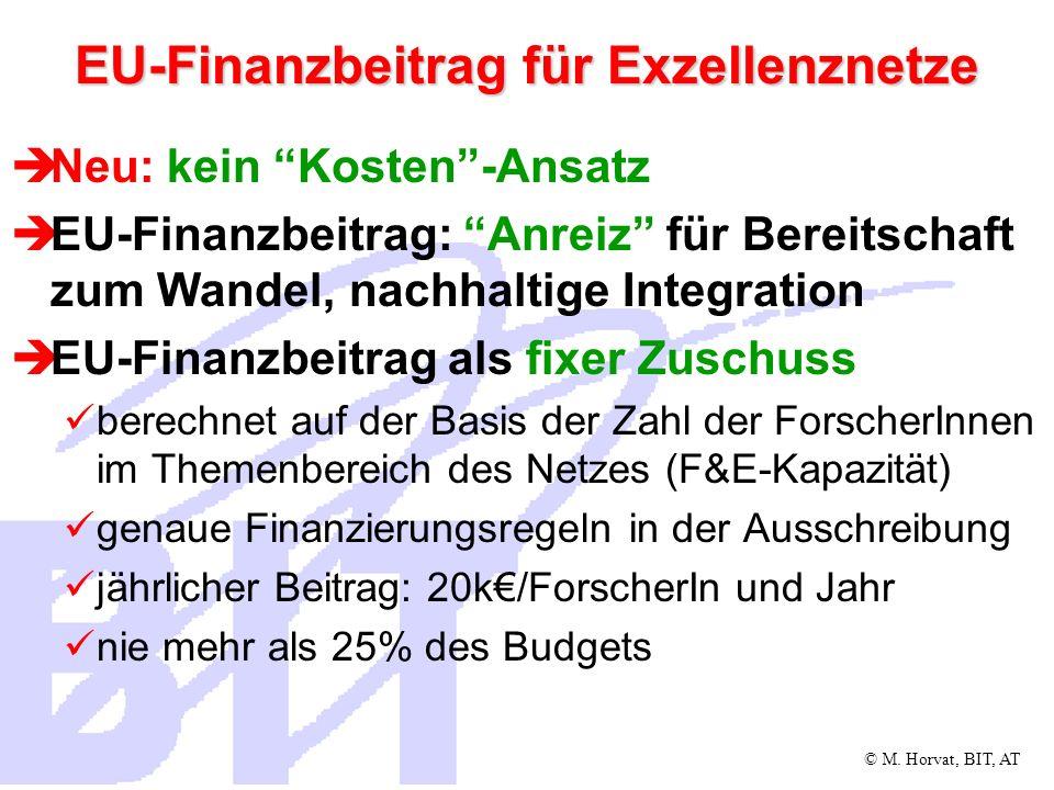 EU-Finanzbeitrag für Exzellenznetze