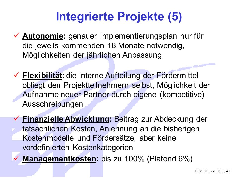 Integrierte Projekte (5)