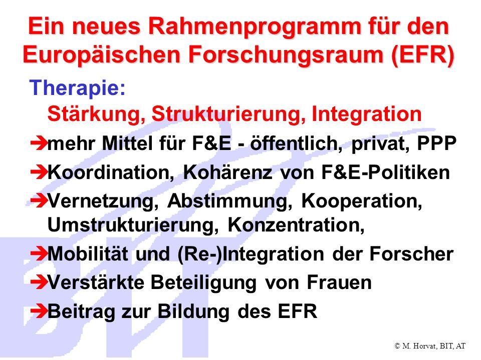 Ein neues Rahmenprogramm für den Europäischen Forschungsraum (EFR)