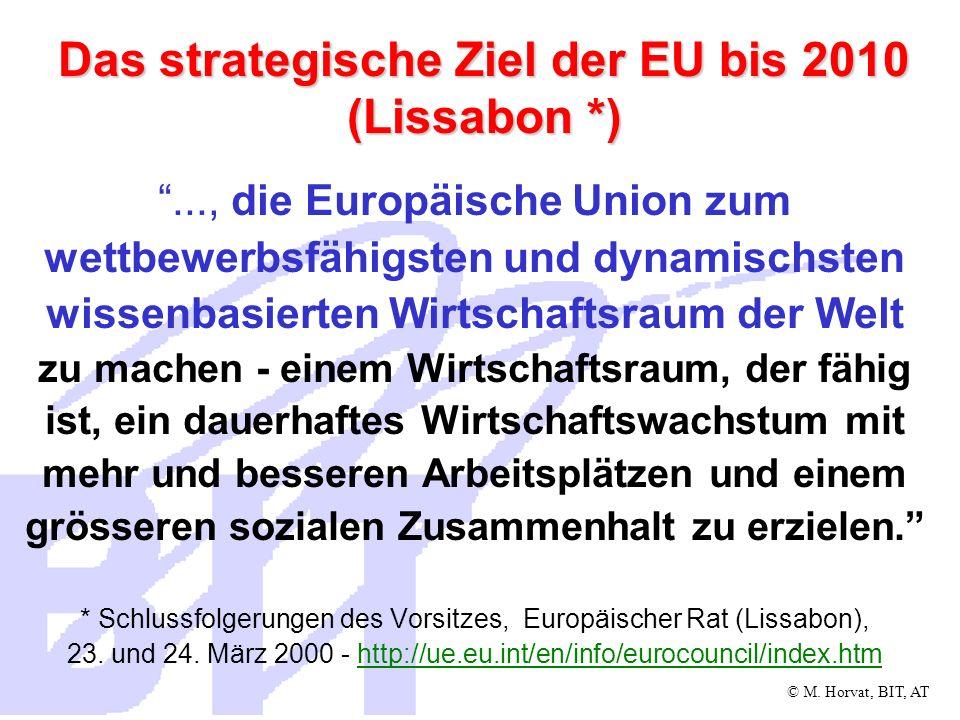 Das strategische Ziel der EU bis 2010 (Lissabon *)