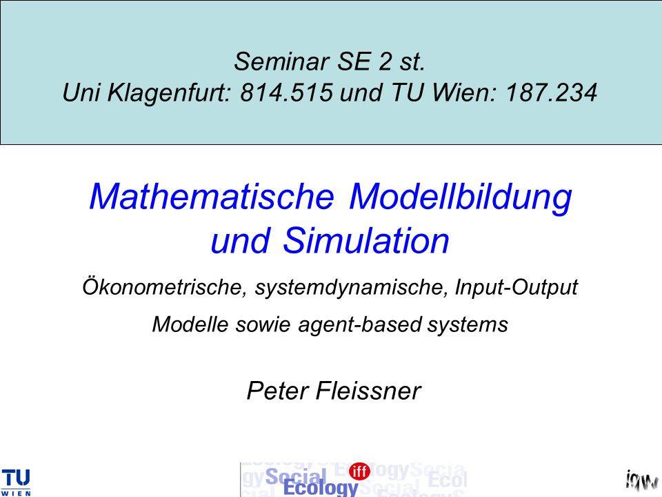 Seminar SE 2 st. Uni Klagenfurt: 814. 515 und TU Wien: 187
