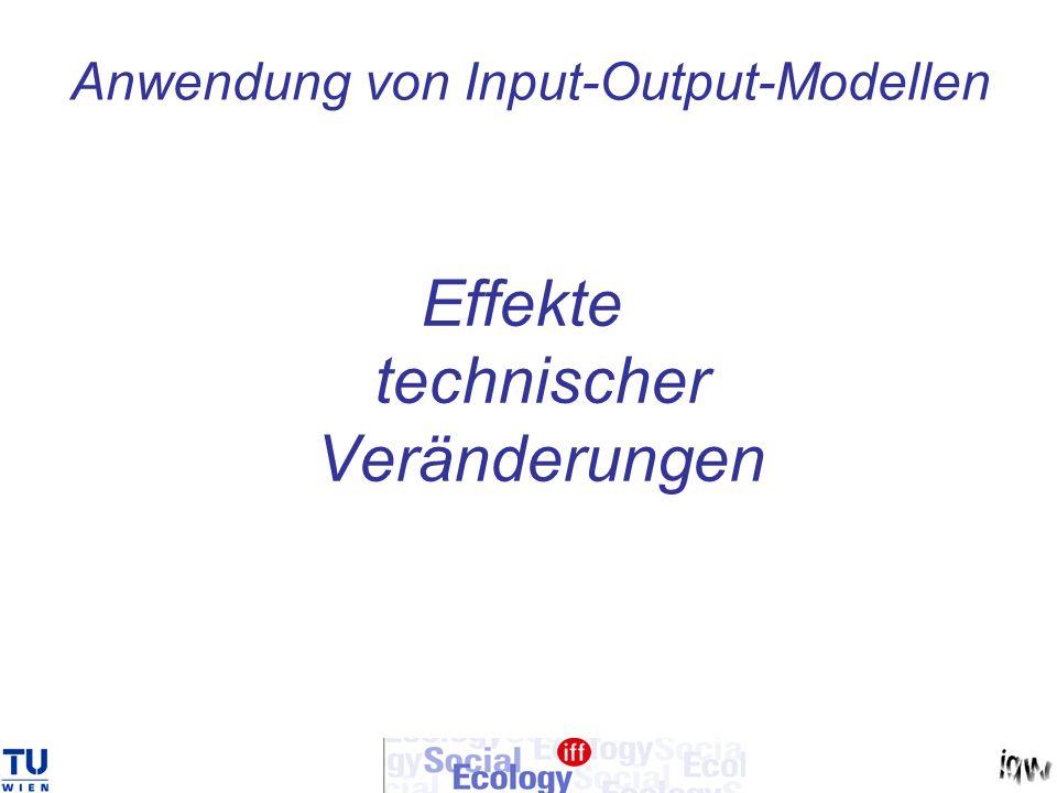 Anwendung von Input-Output-Modellen