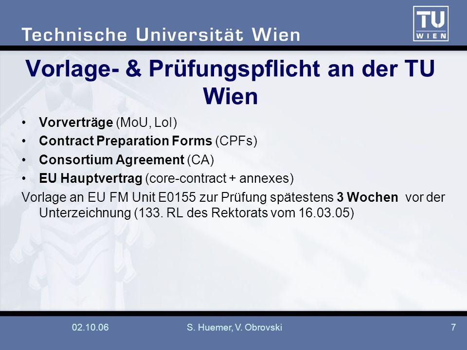 Vorlage- & Prüfungspflicht an der TU Wien