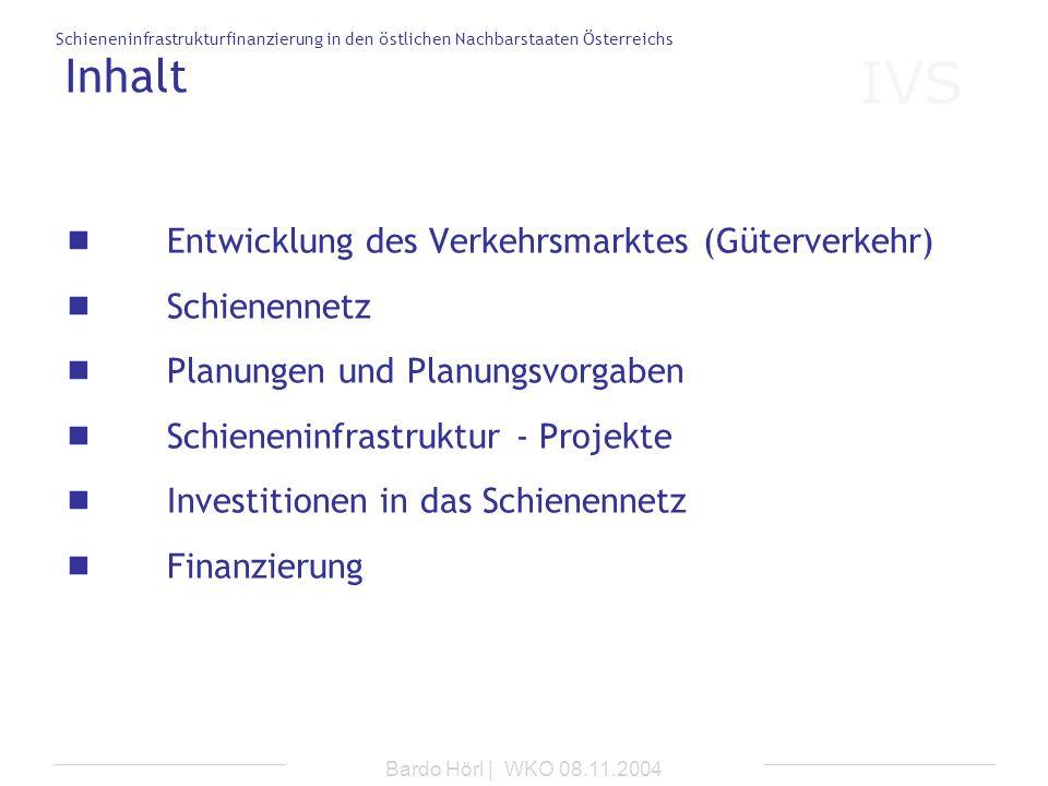 Inhalt Entwicklung des Verkehrsmarktes (Güterverkehr) Schienennetz