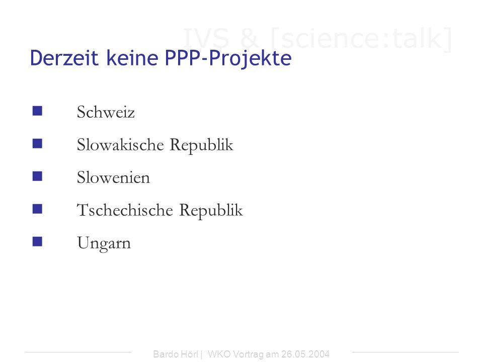 Derzeit keine PPP-Projekte