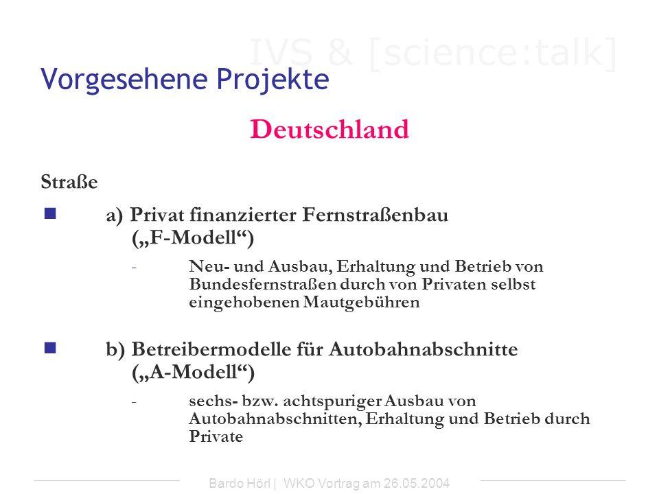 Bardo Hörl | WKO Vortrag am 26.05.2004