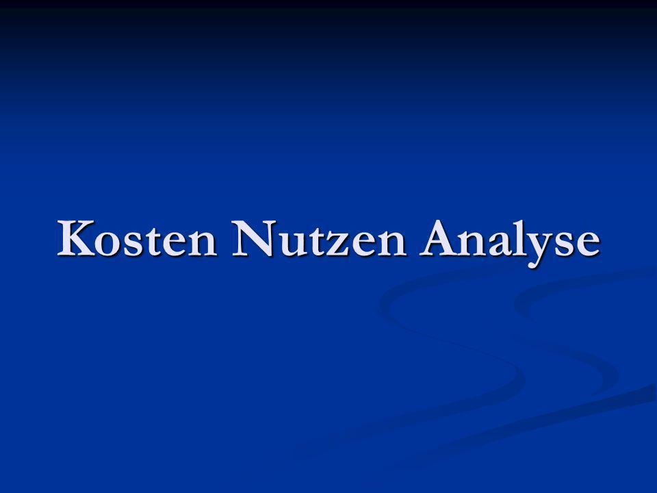 Kosten Nutzen Analyse