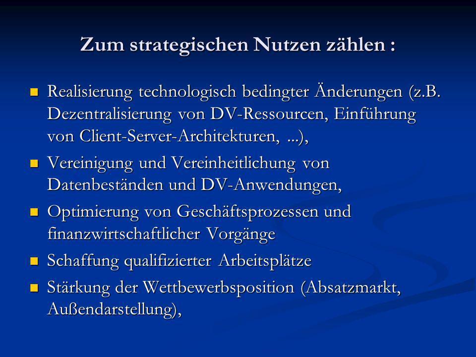 Zum strategischen Nutzen zählen :
