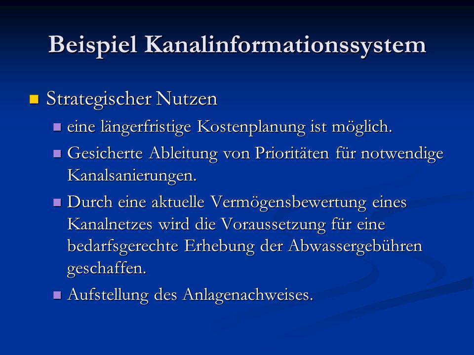 Beispiel Kanalinformationssystem