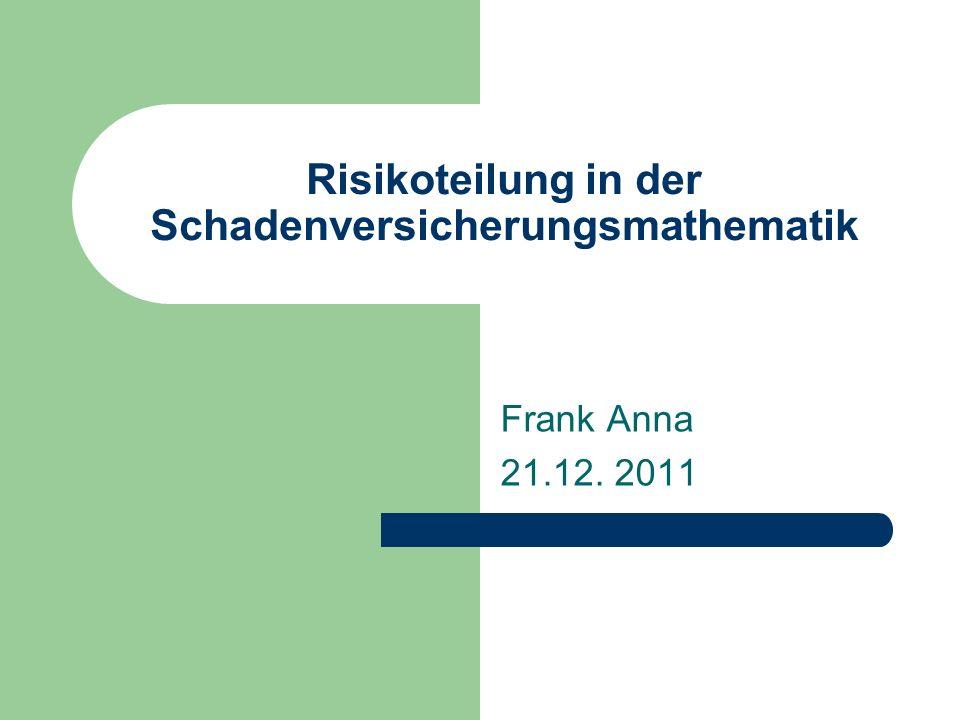 Risikoteilung in der Schadenversicherungsmathematik