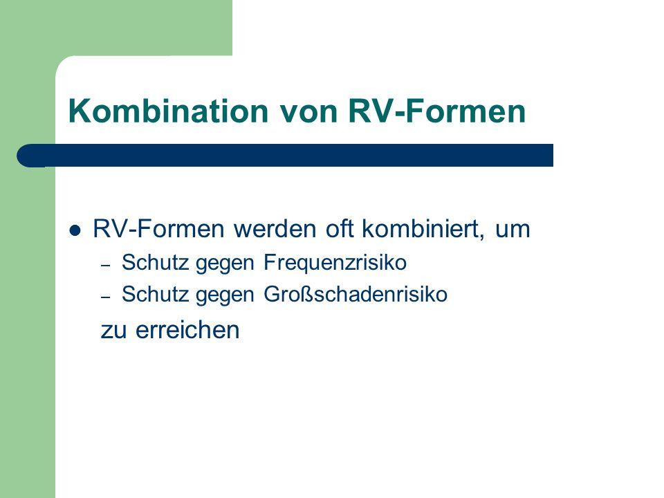 Kombination von RV-Formen