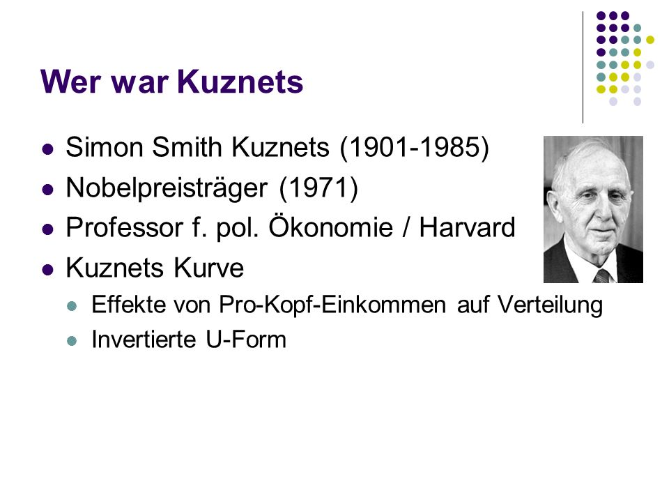 Wer war Kuznets Simon Smith Kuznets ( )