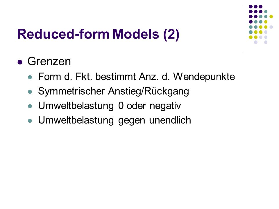 Reduced-form Models (2)
