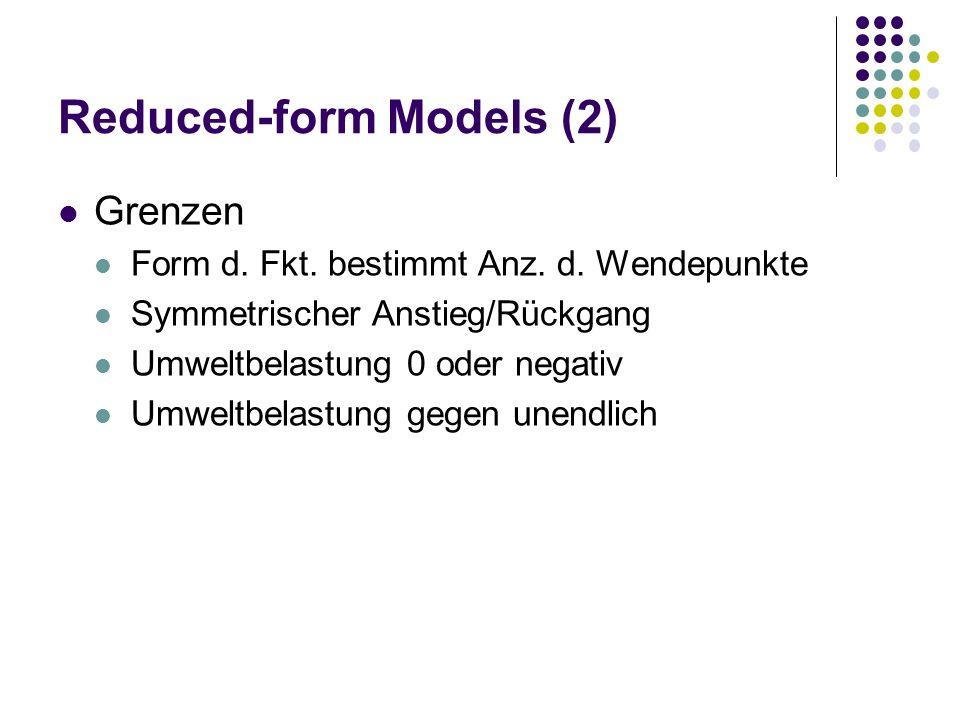 Reduced-form Models (2)