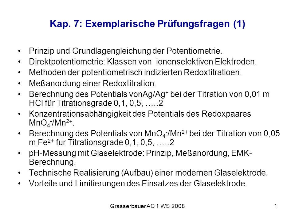 Kap. 7: Exemplarische Prüfungsfragen (1)