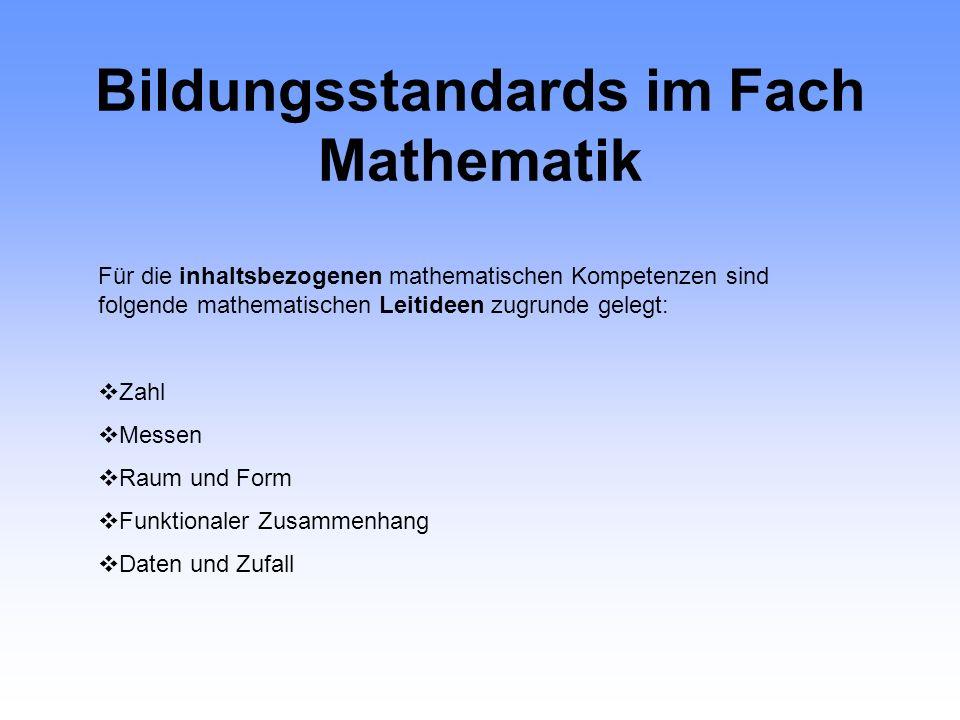 Bildungsstandards im Fach Mathematik