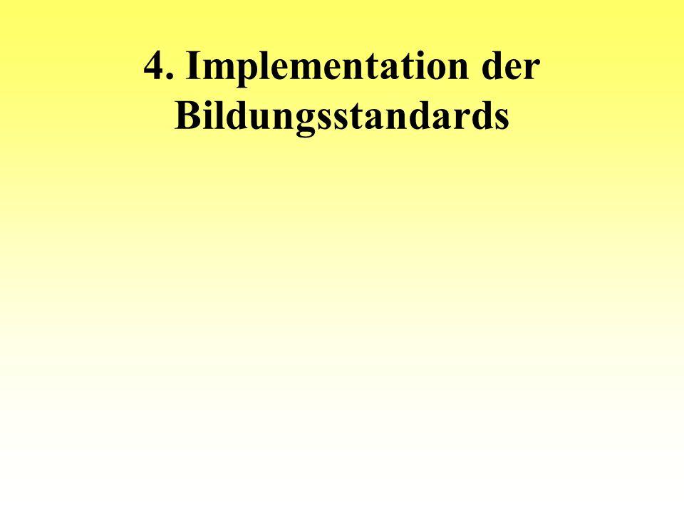 4. Implementation der Bildungsstandards