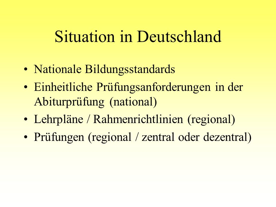 Situation in Deutschland
