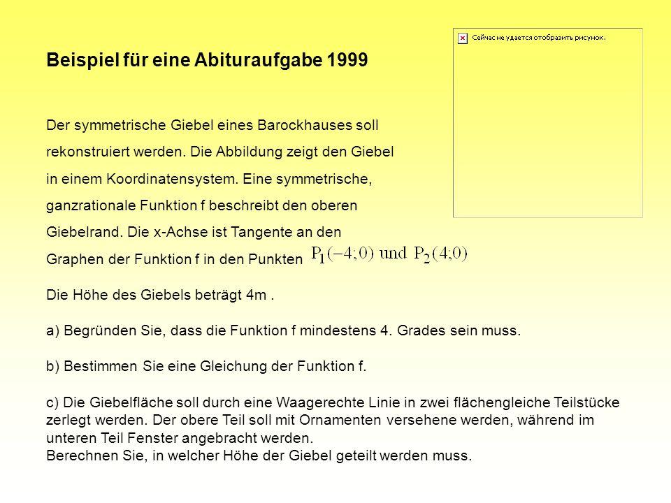 Beispiel für eine Abituraufgabe 1999