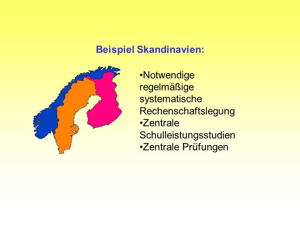 Beispiel Skandinavien:
