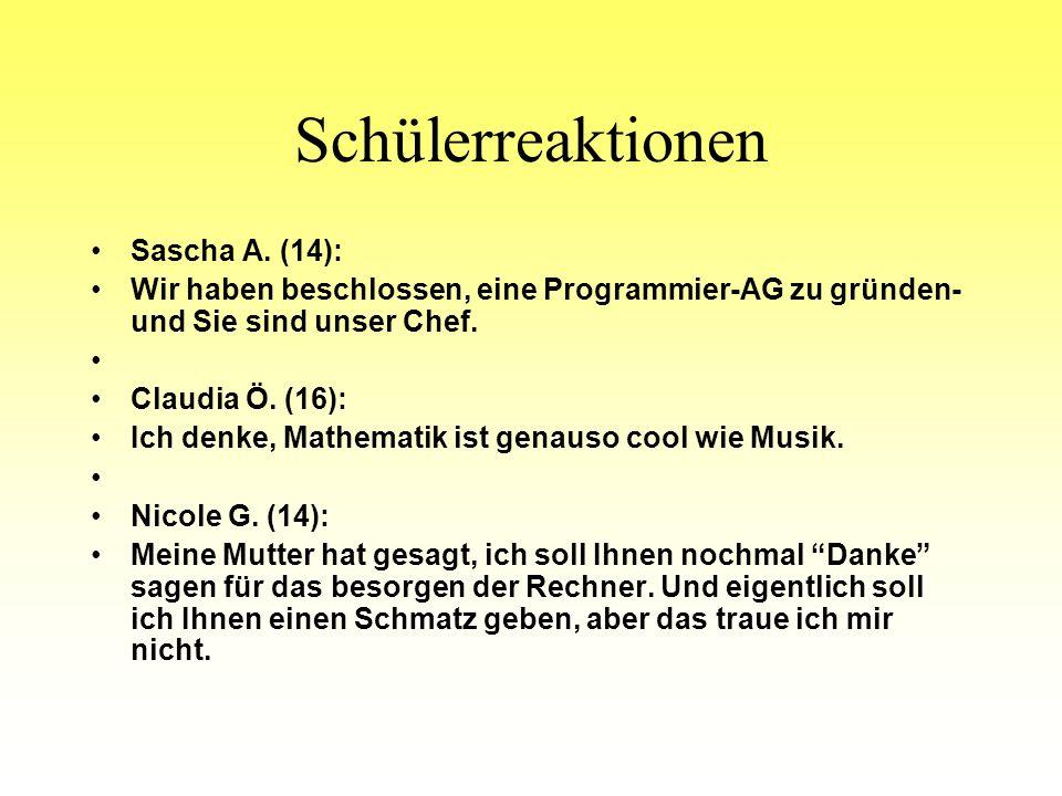 Schülerreaktionen Sascha A. (14):