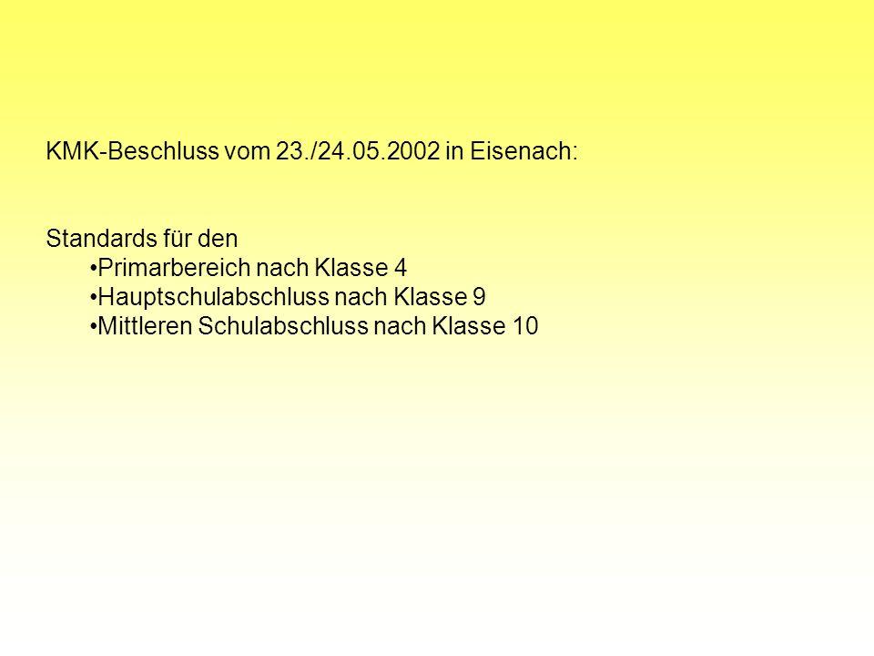KMK-Beschluss vom 23./24.05.2002 in Eisenach: