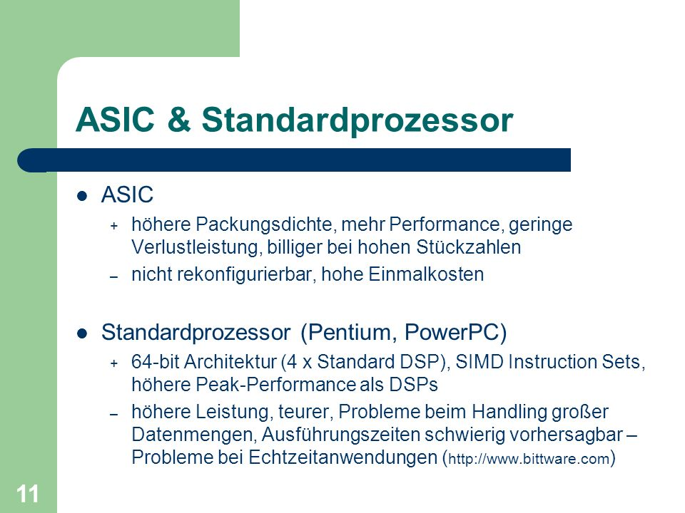 ASIC & Standardprozessor