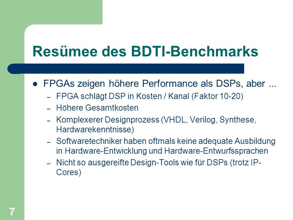 Resümee des BDTI-Benchmarks