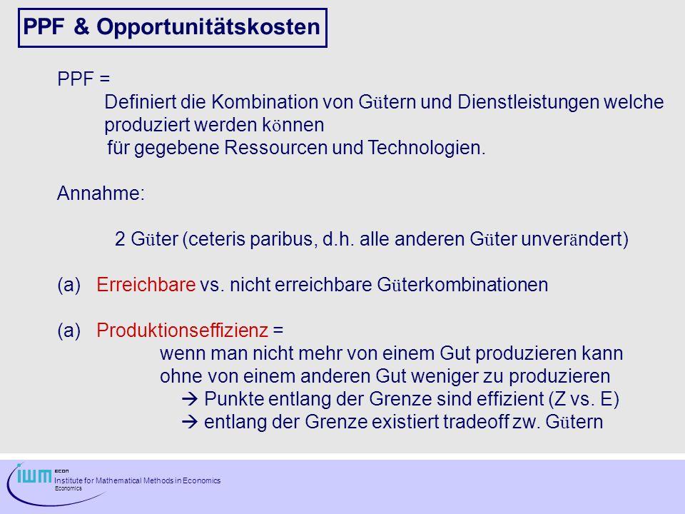 PPF & Opportunitätskosten
