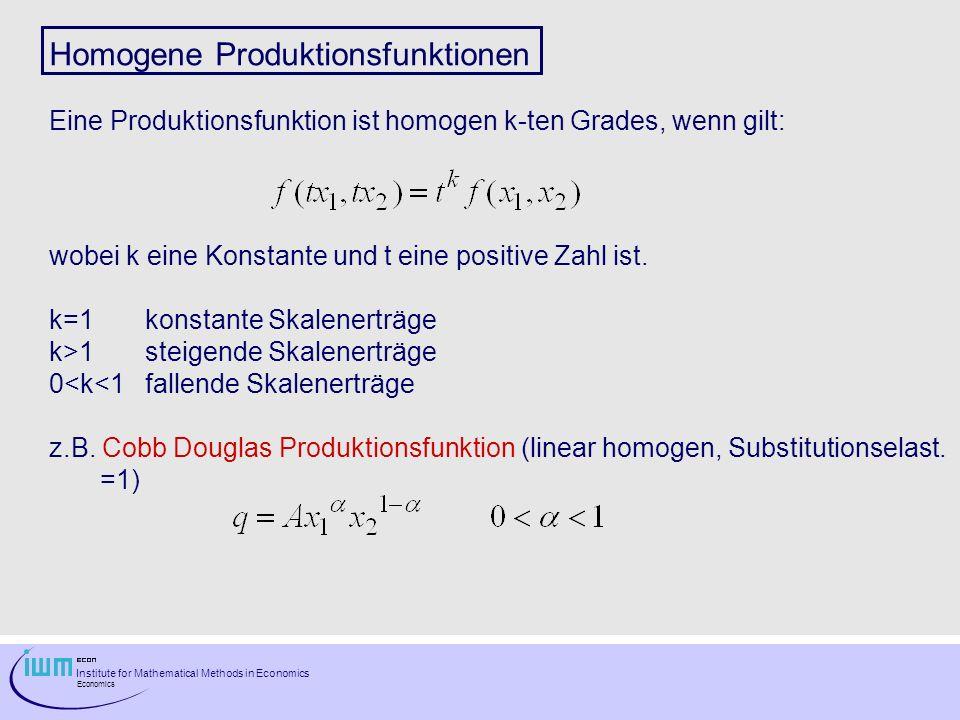 Homogene Produktionsfunktionen