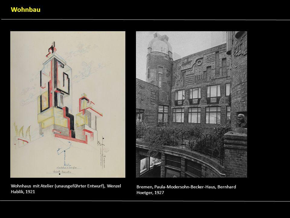 Wohnbau Wohnhaus mit Atelier (unausgeführter Entwurf), Wenzel Hablik, 1921. Bremen, Paula-Modersohn-Becker-Haus, Bernhard.