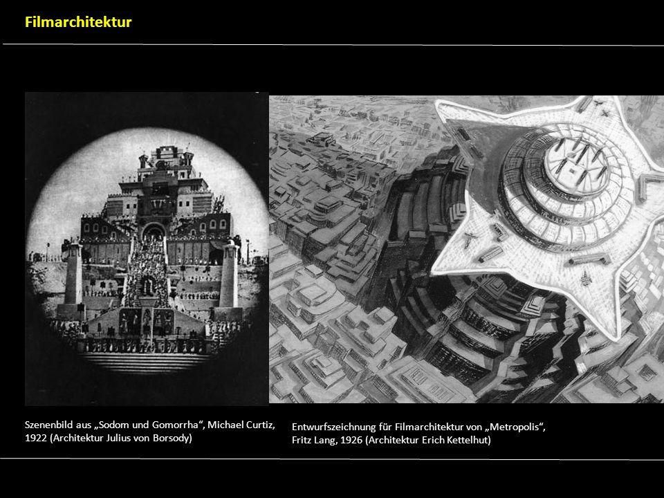 """Filmarchitektur Szenenbild aus """"Sodom und Gomorrha , Michael Curtiz, 1922 (Architektur Julius von Borsody)"""